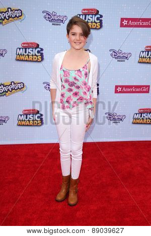 LOS ANGELES - APR 25:  Fiona Bishop at the Radio DIsney Music Awards 2015 at the Nokia Theater on April 25, 2015 in Los Angeles, CA