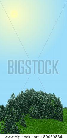 vector landscape vertical banner