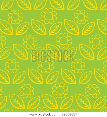 Vector napkin background with flowers