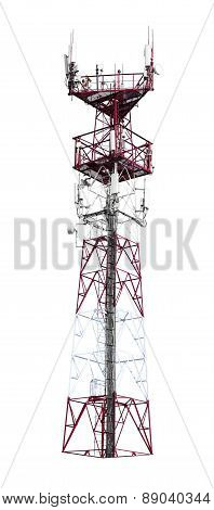 Colorful telecommunication tower