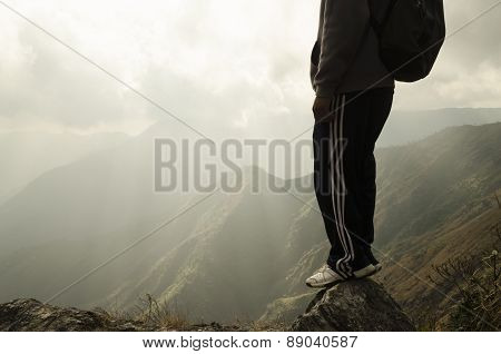 backpacker on a hiking