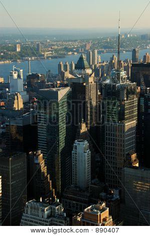 Aerial Downtown Urban Landscape