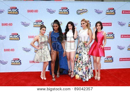 LOS ANGELES - FEB 25:  Fifth Harmony at the Radio DIsney Music Awards 2015 at the Nokia Theater on April 25, 2015 in Los Angeles, CA