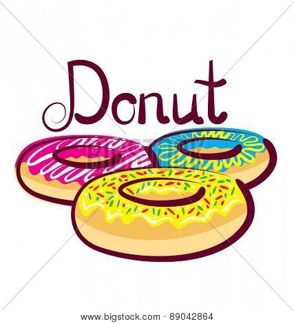 vector donut with calligraphic inscription