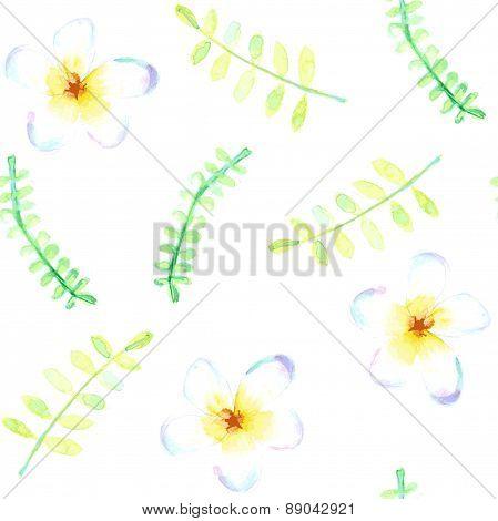 Sketch Watercolor Flowers In Vintage Style