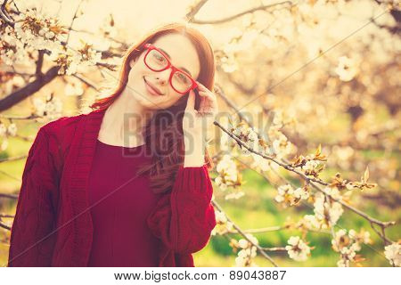 Women In Blossom Apple Tree Garden