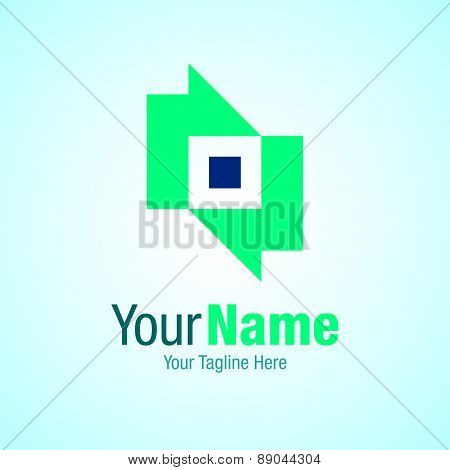 Progress arrow business template graphic design logo icon