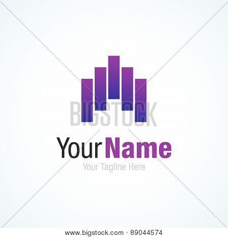 Progress capital real estate purple graphic design logo icon