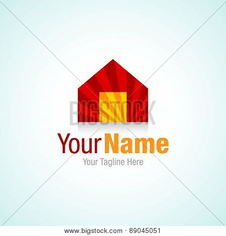 Prime real estate elite house construction graphic design logo icon
