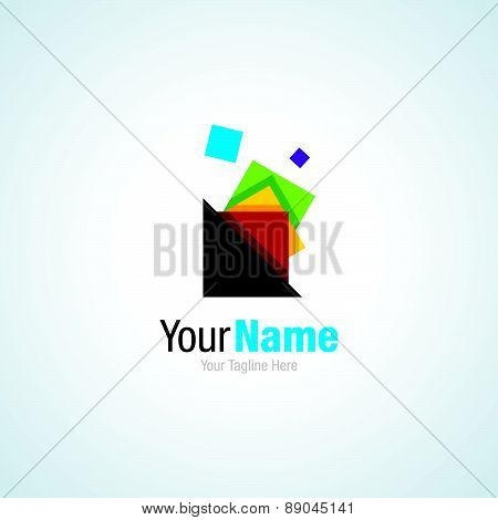 Colorful shape collector business idea shape simple icon logo