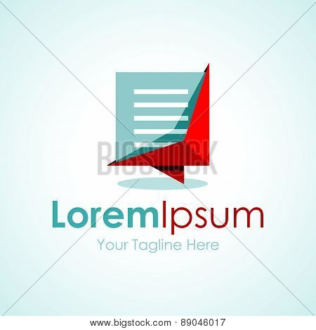 Modern good looking document file simple business icon logo