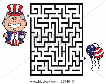 Uncle sam labyrinth