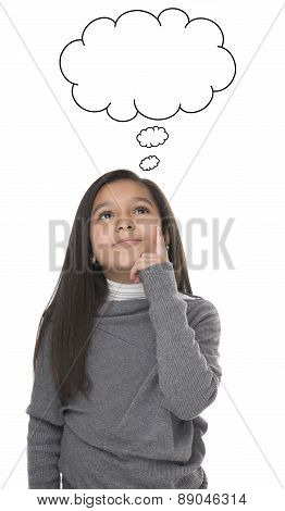 Portrait Of Young Girl Thinking
