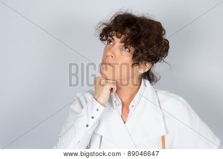 A Portrait Friendly, Thoughtful Female Doctor,