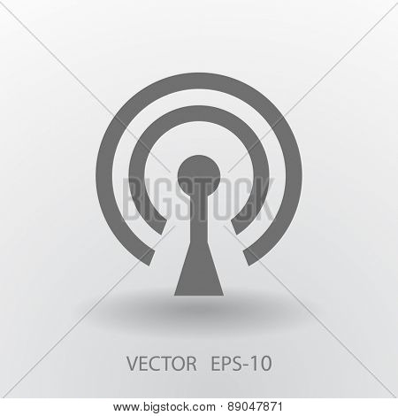 Flat icon of wifi