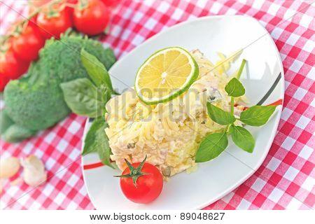 Delicious meal - Mimosa salad