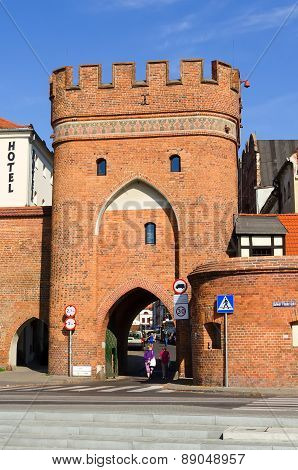 Gothic gate in Torun, Poland.