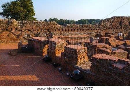 Castle ruins in Torun, Poland.