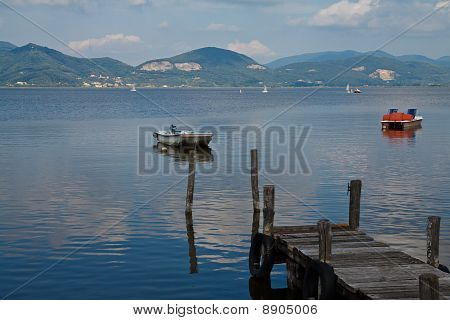 Pier and boats