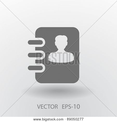 Flat icon of  contacts book