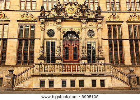 Plaza de la ciudad en Bremen Alemania