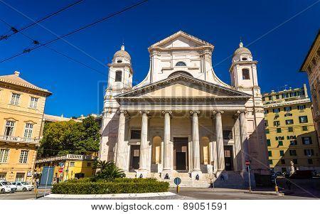 Basilica Of Santissima Annunziata Del Vastato In Genoa - Italy