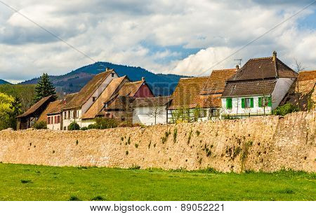 The Historic Centre Of Bergheim Behind Walls - France