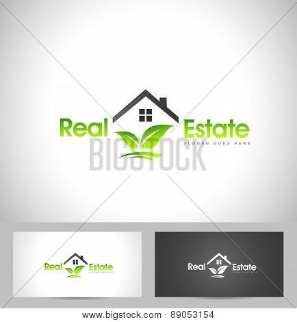 Real Estate Logo Leaf