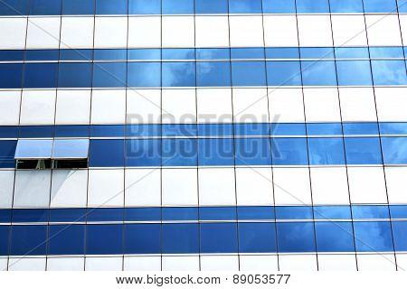 Reflex Of S  In A Window Terrace   Bangkok Thailand