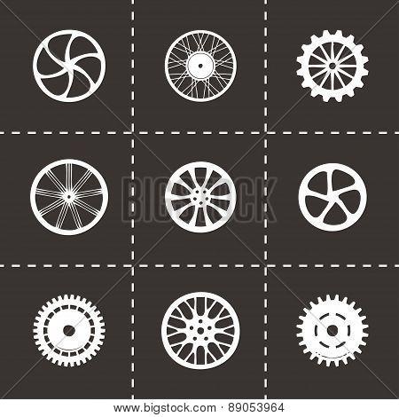 Vector wheel icon set