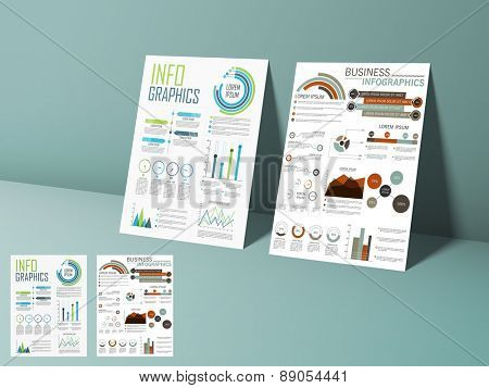 Creative business infographic flyer, template or brochure with elements, can be used for marketing, website, print, presentation etc.