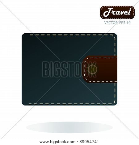Wallet Icon. Purse Icon. Flat Design Style. Made Vector Illustration