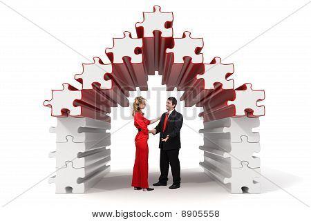 Business Partners - 3D Puzzle House - Solution