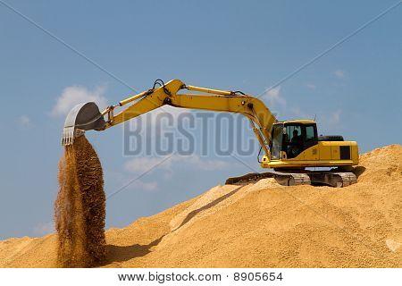 Excavating Gravel