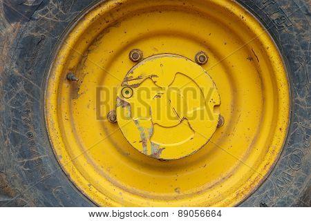 Black Yellow Big Truck Tyre