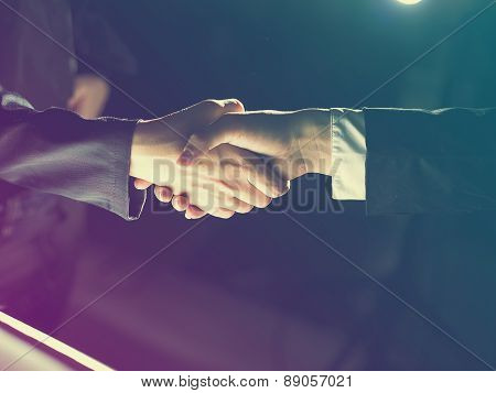 Handshake Handshaking On Light And Dark