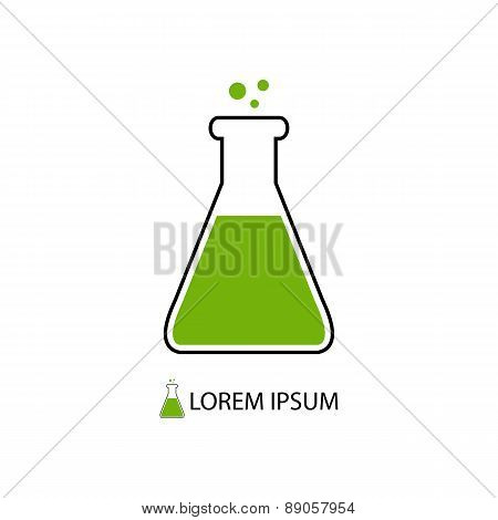 Flask as chemistry logo