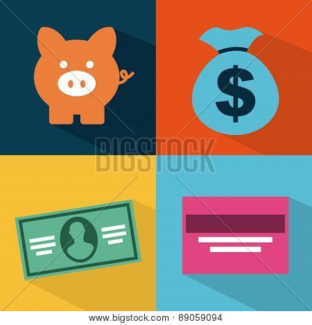 tax icon over colors  background vector illustration