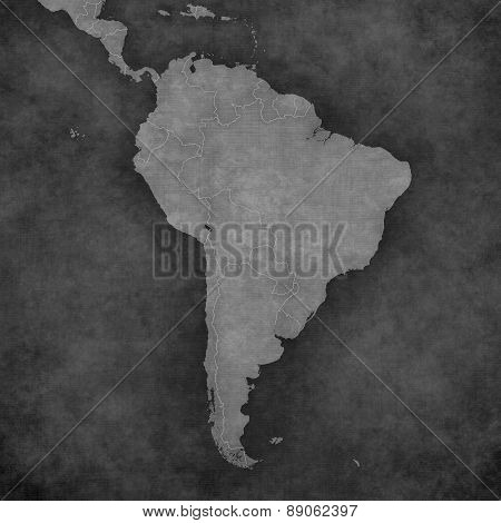 Map Of South America - Blank Map