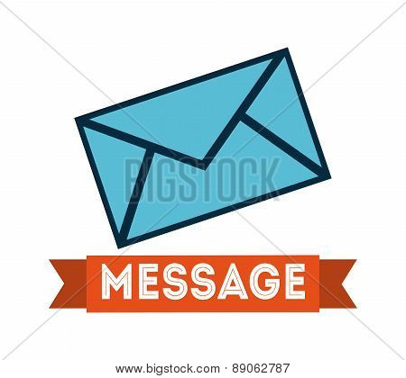 mail icon over   white background  vector illustration