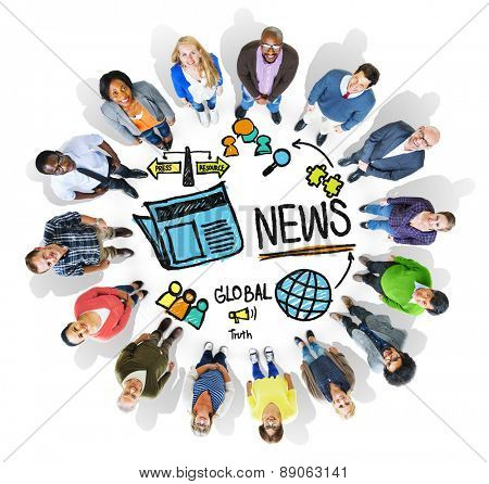 News Journalism Information Publication Update Media Advertisement Concept
