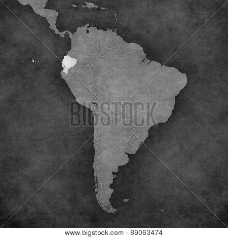 Map Of South America - Ecuador