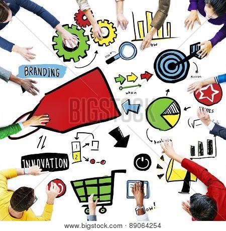 Diversity Casual People Branding Marketing Brainstorming Planning Concept