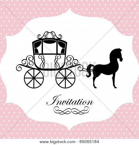 horse design over dotted background vector illustration