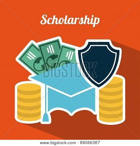 insurance design over orange  background vector illustration