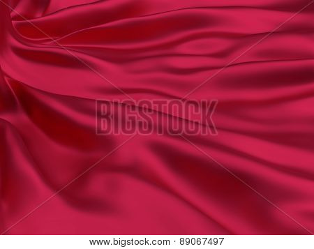 Red silk cloth