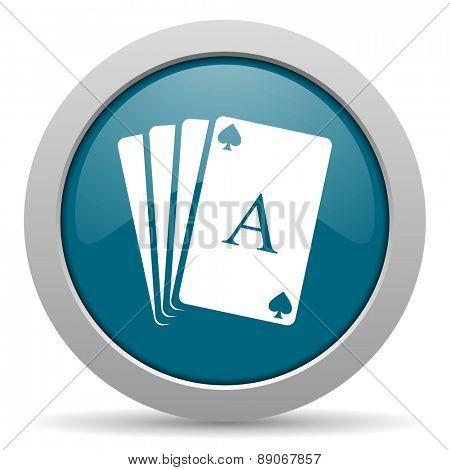 card blue glossy web icon