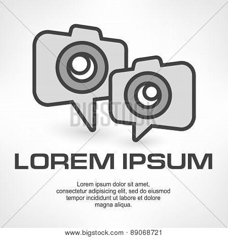 Camera Icon Speech Bubble