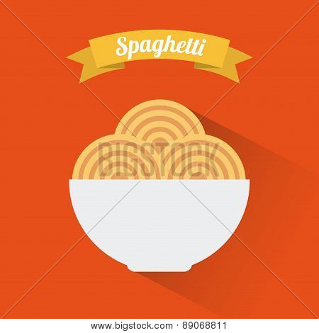 menu design over  orange  background vector illustration