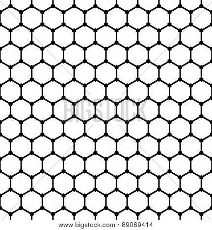 Hexagons pattern. Seamless geometric latticed texture. Vector art.